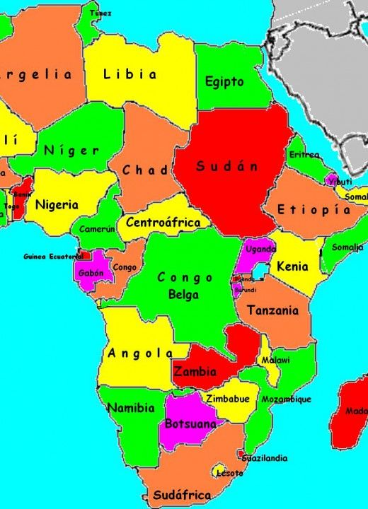 Pin En Mapa De áfrica Con Sus Países