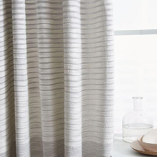 Textured Stripe Curtain Striped Curtains Curtains