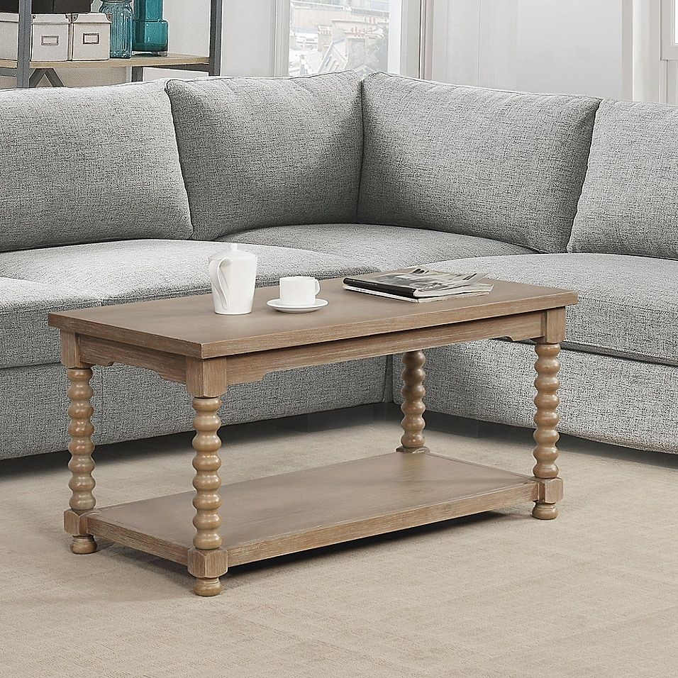 Bee Willow Home Spindle Coffee Table In Grey Wash Coffee Table Coffee Table Small Space Living Room Coffee Table [ 956 x 956 Pixel ]