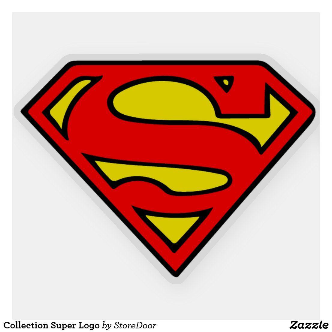 Collection Super Logo Sticker Zazzle Com In 2021 Superman Logo Superman Symbol Superman