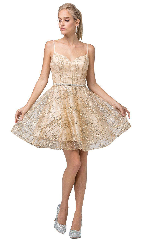 Dancing Queen 3185 Glitter Sweetheart A Line Short Dress Short Dresses Fit N Flare Dress Plus Size Cocktail Dresses [ 1500 x 879 Pixel ]