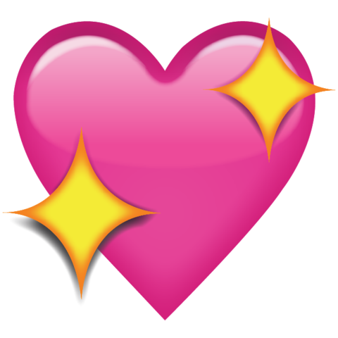Sparkling Pink Heart Emoji Pink Heart Emoji Emoji Backgrounds Heart Emoji