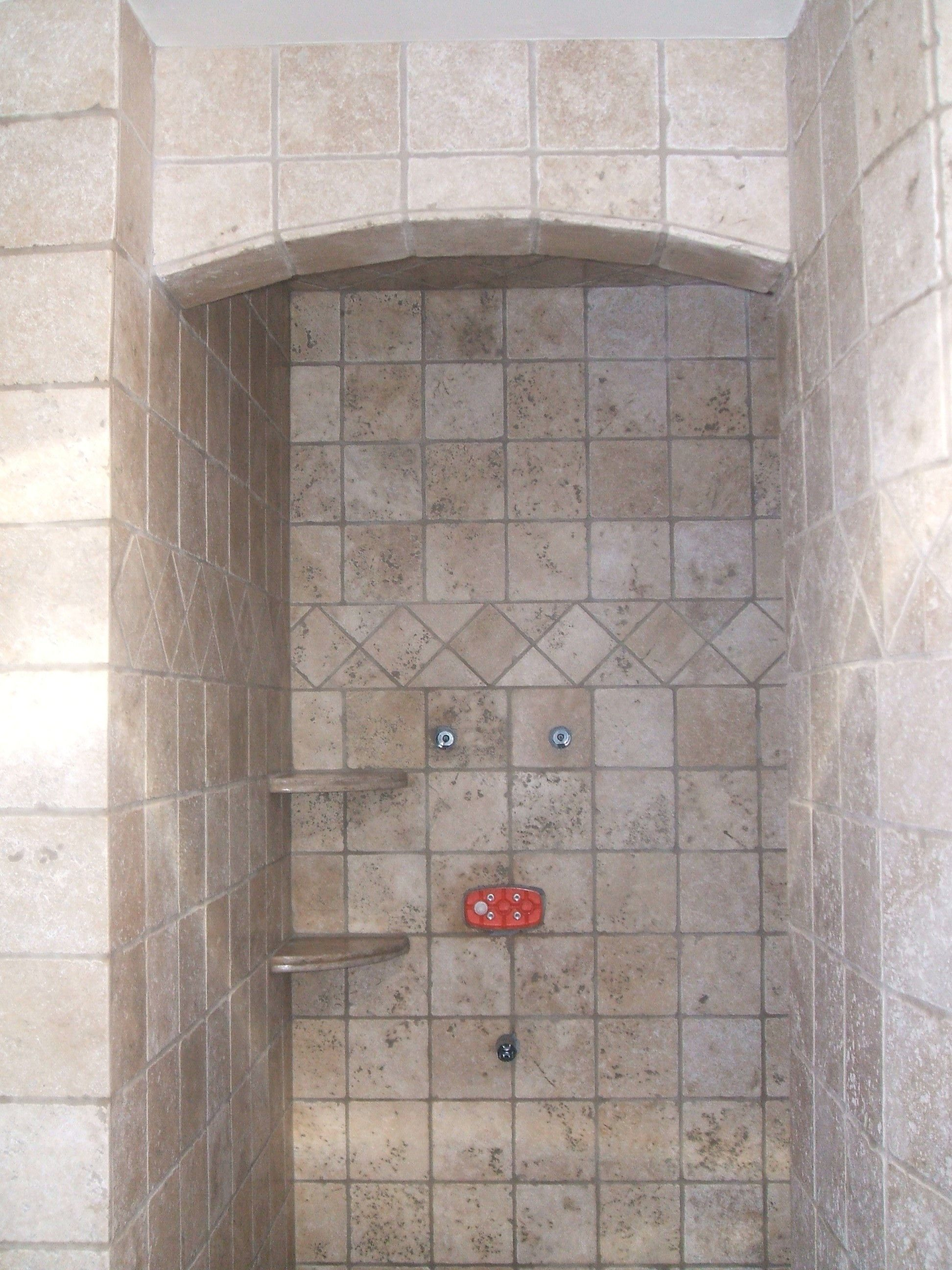 Terrific Ceramic Tile Shower Ideas Small Bathrooms With Awesome Stainless Head Shower And Chrome