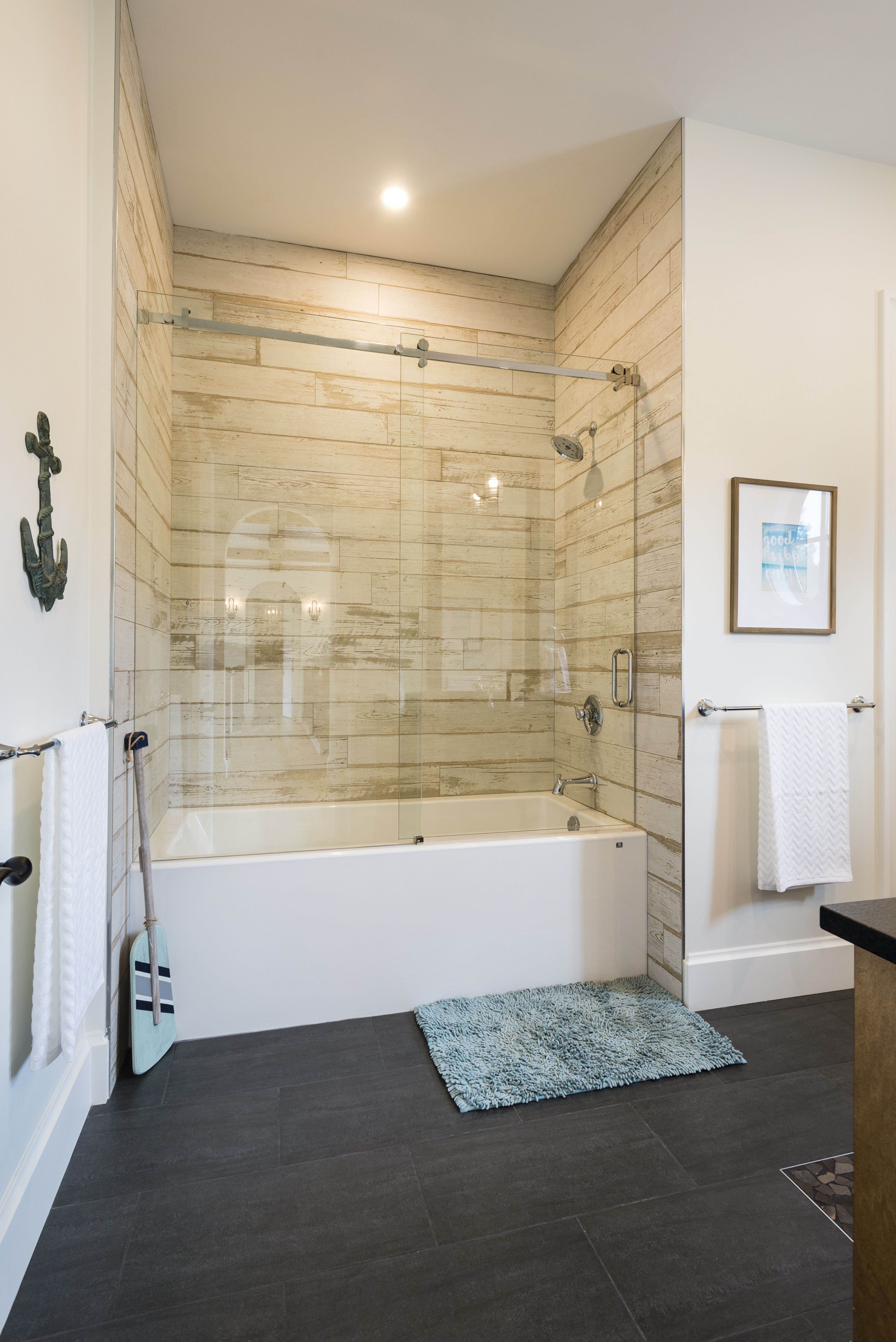 bathroom hardwood in plank ideas ceramic look floors pebble pictures light size wall cabinet vanities of wood timber and mirror designs vanity with shower applying full tile bright floor tiles blendart awesome colors bathrooms