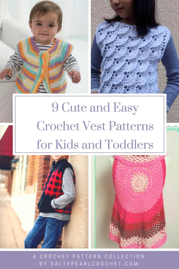 9 Crochet Vests For Kids For All My Grandkids And Their Dads