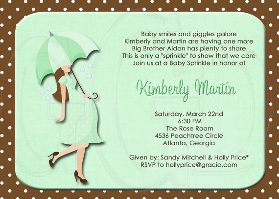silhouette baby shower or sprinkle (for 2nd or 3rd child, Baby shower invitations