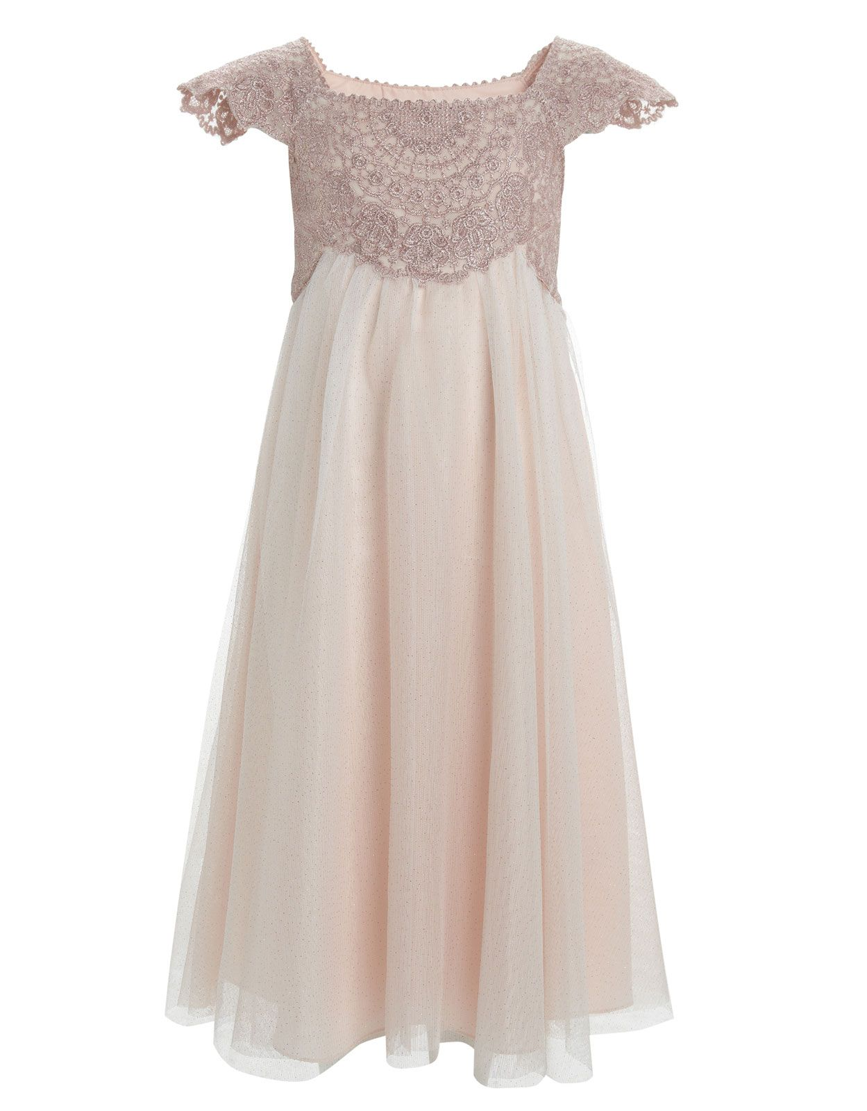 Flower Girl Estella Gold Sparkle Dress By Monsoon Kimbers Wedding