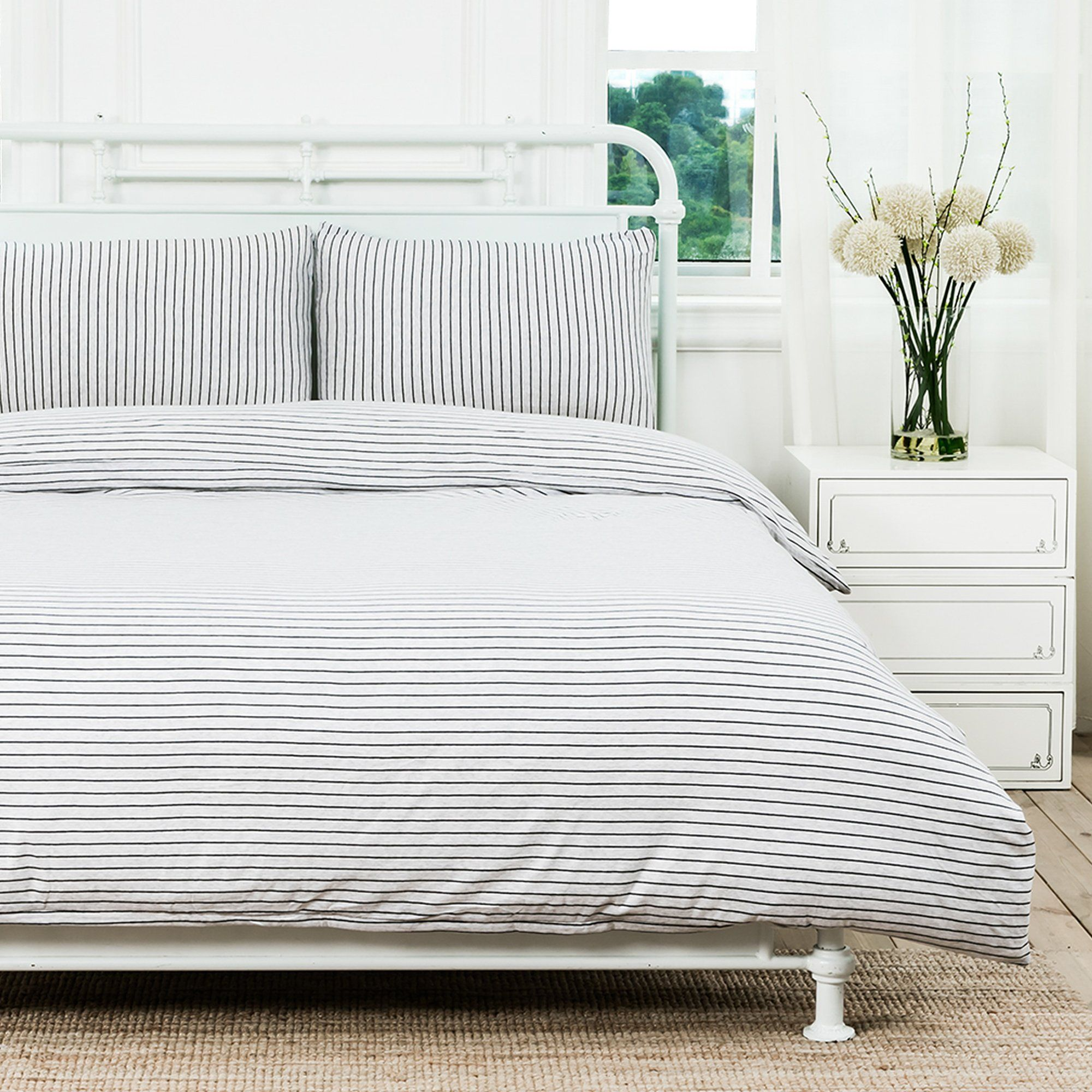 Pure Era Duvet Cover Set Jersey Knit Cotton 1 Comforter Cover And