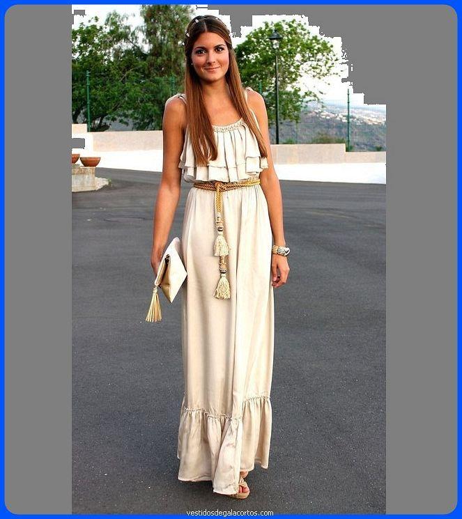 Vestidos modernos largos casuales