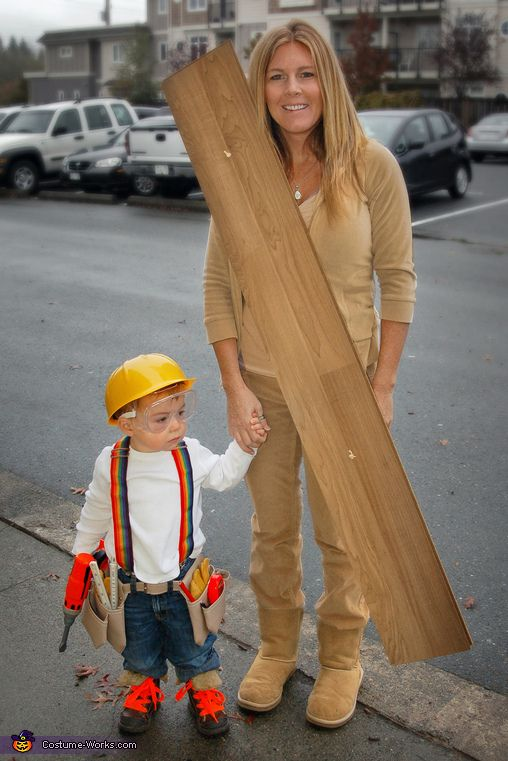 Jen This is my son and I two years ago (2012) for his preschool Halloween party. He already had the construction worker stuff and played with it all the ...  sc 1 st  Pinterest & Construction Worker u0026 Wood - Halloween Costume Contest at Costume ...