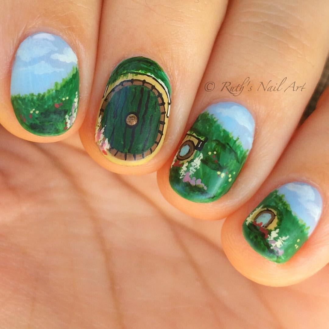 Hobbit Nails #ruthsnailart #nailart #lotr #thehobbit #lordoftherings ...