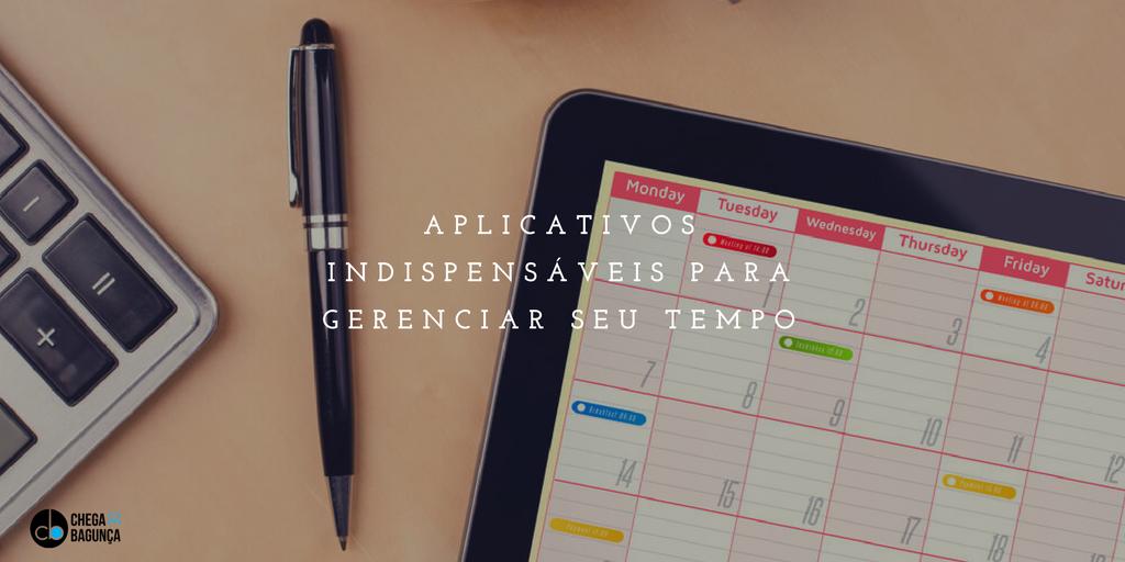 Aplicativos indispensáveis para gerenciar seu tempo :http://blogchegadebagunca.com.br/aplicativos-indispensaveis-para-gerenciar-seu-tempo/?utm_source=feedburner