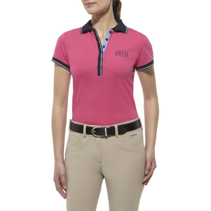 A classically-styled polo that is even better in the saddle. Tailored from performance stretch piqué. Ariat's Moisture Movement Technology keeps...