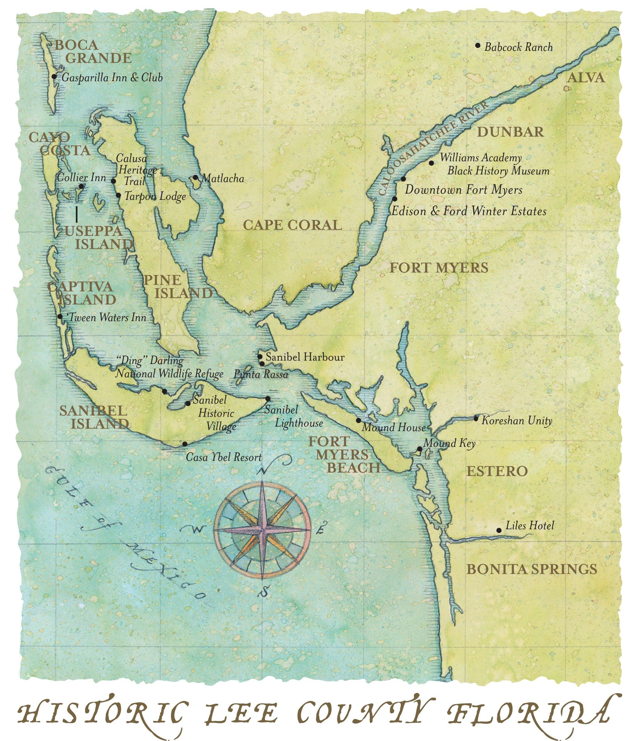 Pin by Jana Caldwell on MAPS | Fort myers beach, World map ...
