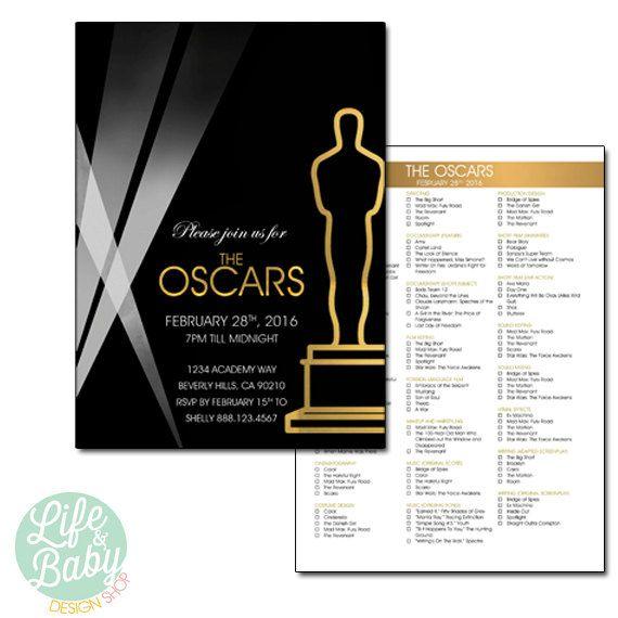 Oscar Party Invitation Oscar Invitation Academy Awards