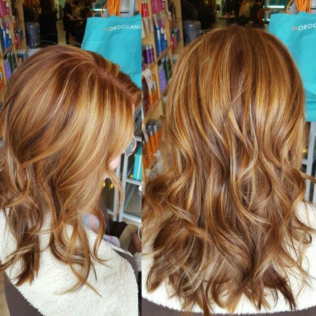 Gorgeous Copper With Highlights And Lowlights Copper Blonde Hair Blonde Hair With Copper Lowlights Highlights And Lowlights