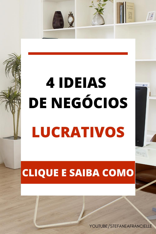 IDEIAS DE NEGÓCIOS LUCRATIVOS PARA EMPREENDER