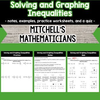 Solving And Graphing Inequalities Graphing Inequalities Solving Equations Equations