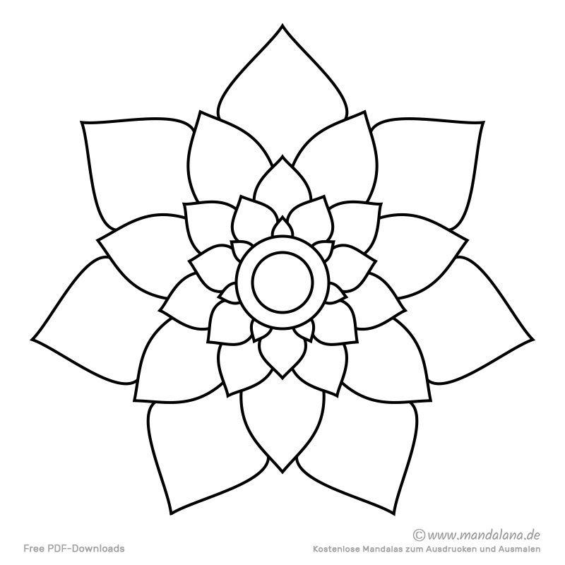 Mandala Malvorlagen Einfache Formen Zum Ausmalen Malvorlagen Mandala Malvorlagen Mandala Vorlagen