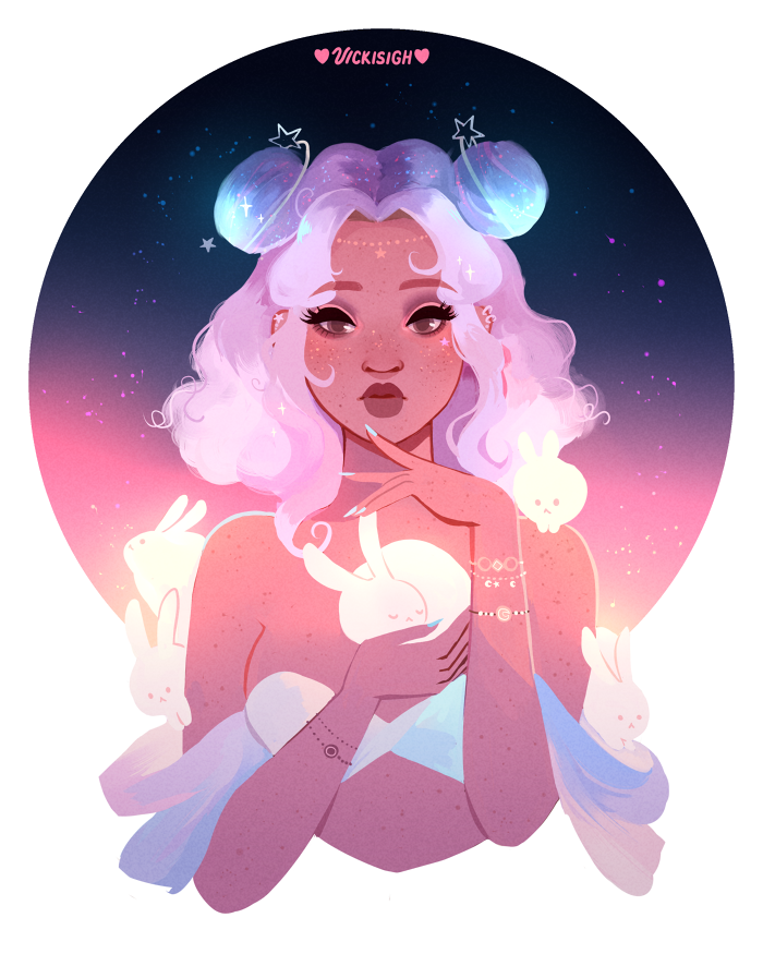 ☆ Space Buns ☆ Patreon + Store + Twitter