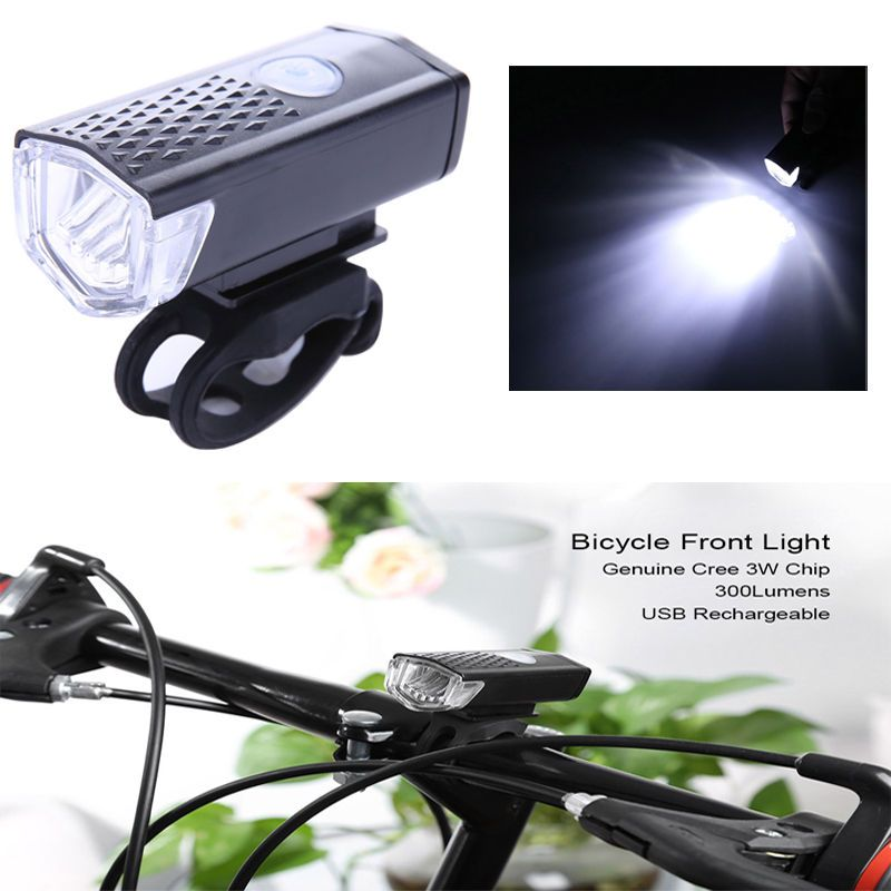 Cycling Bicycle Led Lamp Usb Rechargeable Bike Front Portable