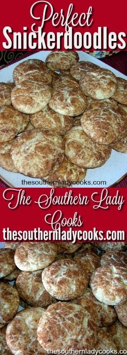 Snickerdoodles cookies will melt in your mouth! The sugar and cinnamon make these snickerdoodles so tasty. A great holiday cookie for a gift or just anytime. Your friends and family will love these cookies and …