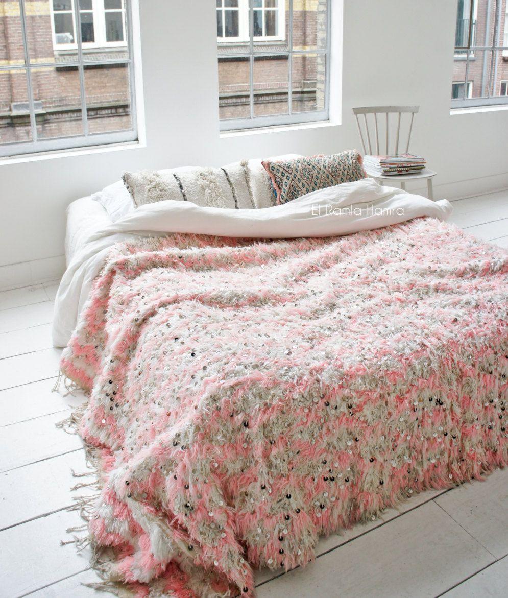 Pink Handira Moroccan Wedding Blanket 8 Moroccan Wedding Blanket Wedding Blankets Blanket