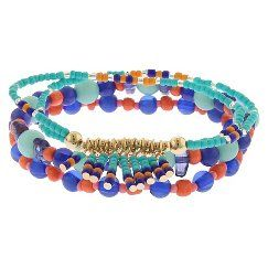 Women's 4 Pack Beaded Friendship Bracelets - Multicolor