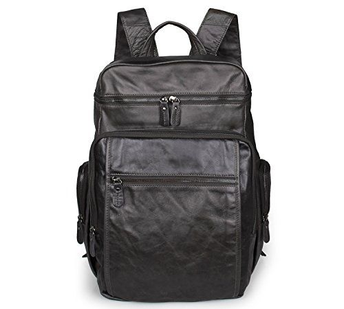 c23ee8a475 AB Earth Excellent Vintage Leather Mens Hiking Backpack Bookbag ...