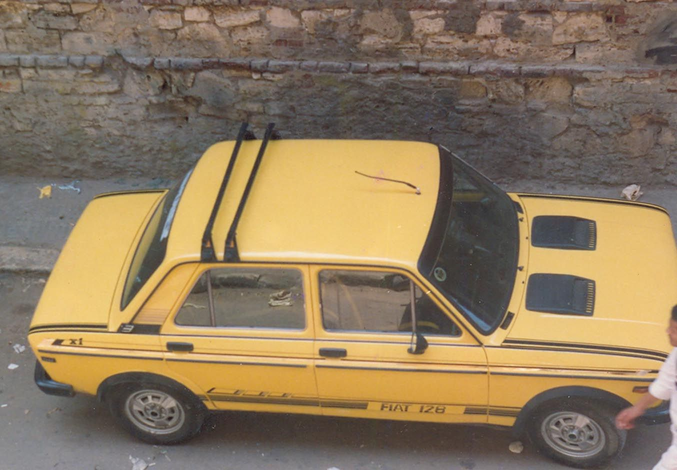 My Father S Yellow Car Fiat 128 Abarth Fiat 128 Yellow Car Fiat