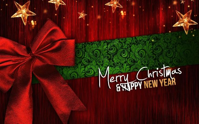 Happy New Year Nice Wallpaper 2018 Merry Christmas And Happy New Year Christmas Greetings Happy Christmas Day