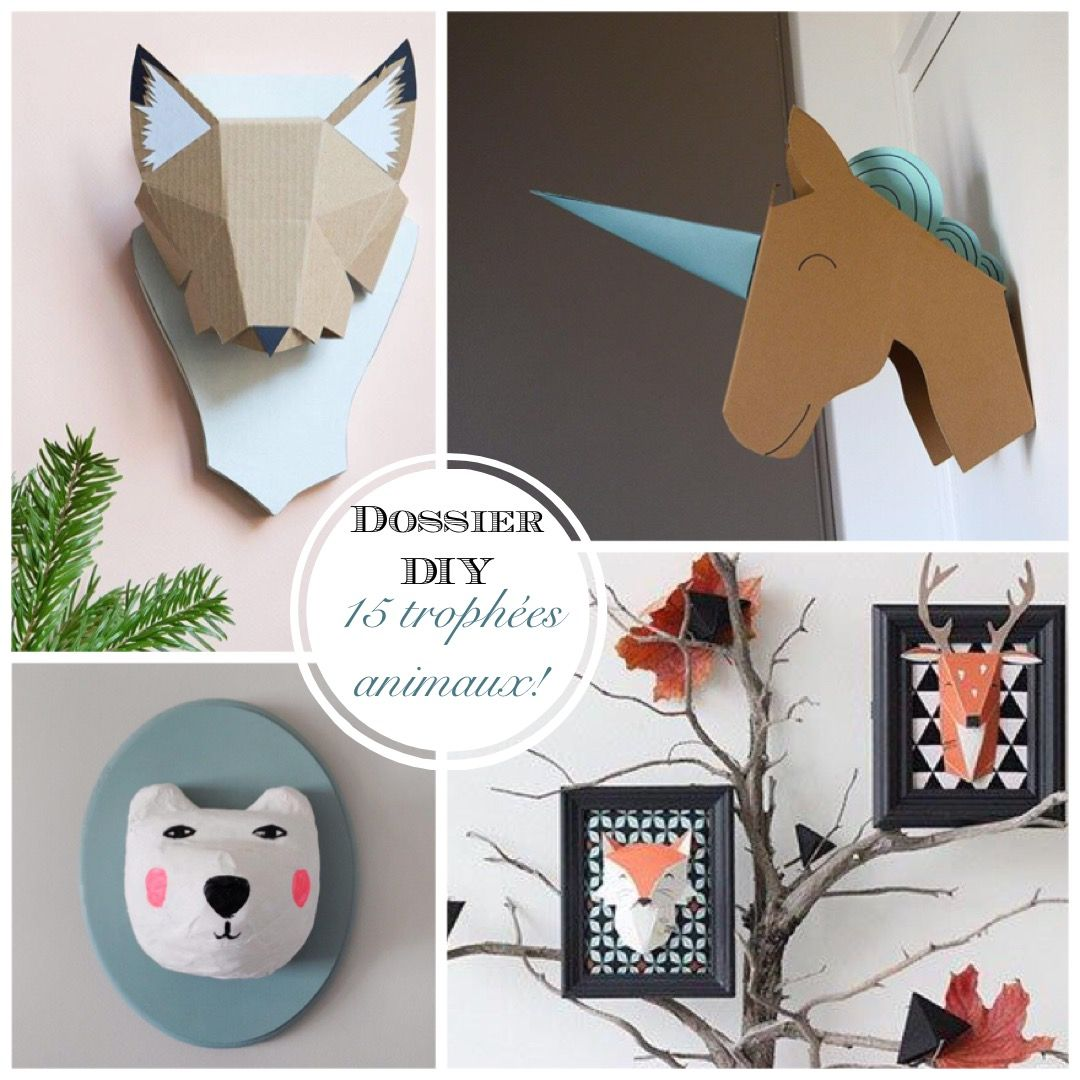 dossier diy 15 troph es d animaux r aliser origami. Black Bedroom Furniture Sets. Home Design Ideas