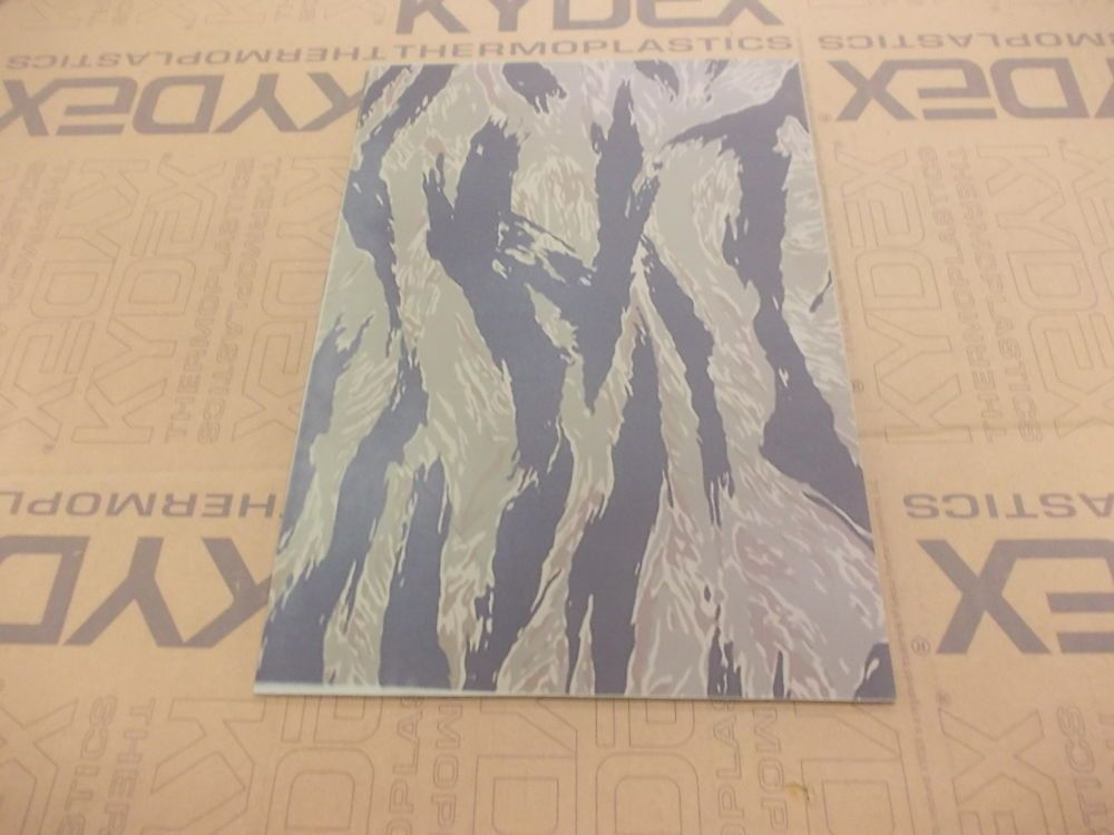 2 mm KYDEX T Sheet 297 X 210 nominal  M84 Camouflage on Julep P3 cashmere