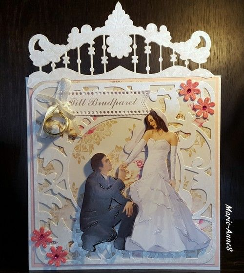 Wedding card # 1 Made by Marie-AnneS www.facebook.com/PysseloPynt/