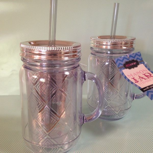 For Sale: 2 NEW Mason Jar Tumblers for $11