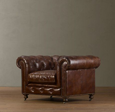 Kensington Leather Chair At Restoration Hardware