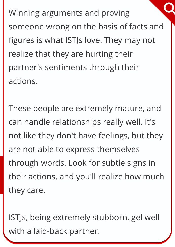 ISTJ Relationship Compatibility With Other Personality Types - logistician resume