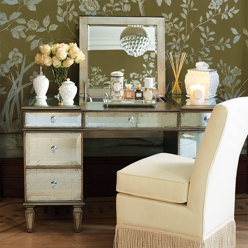 Alessandra Ultimate Vanity | Vanity area, Dressing and Chairs