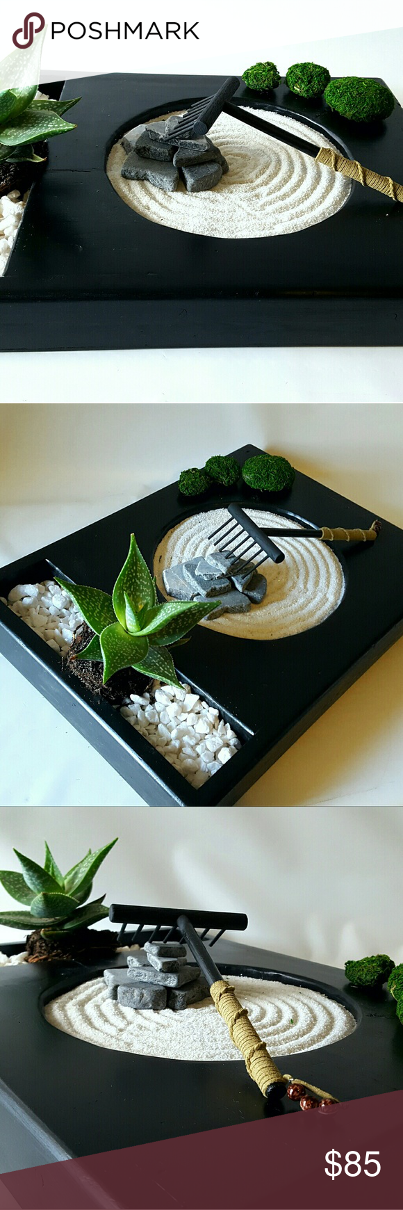 Desk Or Table Top Zen Garden With Solid Oak Stand And Buddha Diy Kit Zen Rock Garden Miniature Zen Garden Desk Zen Garden