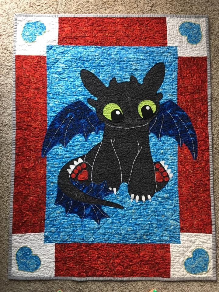 Toothless Baby Quilt Inspired From How To Train Your