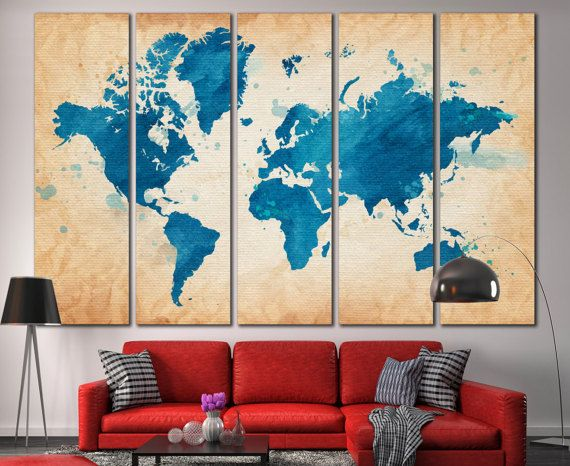 About this product world map print world map canvas world about this product world map print world map canvas world map gumiabroncs Choice Image