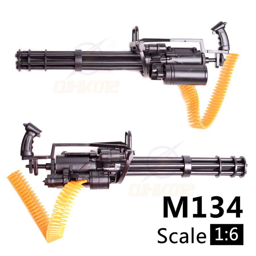 1//6 All Set Toy Minigun Machine Gun Model Building Bricks Action Figure Weapon