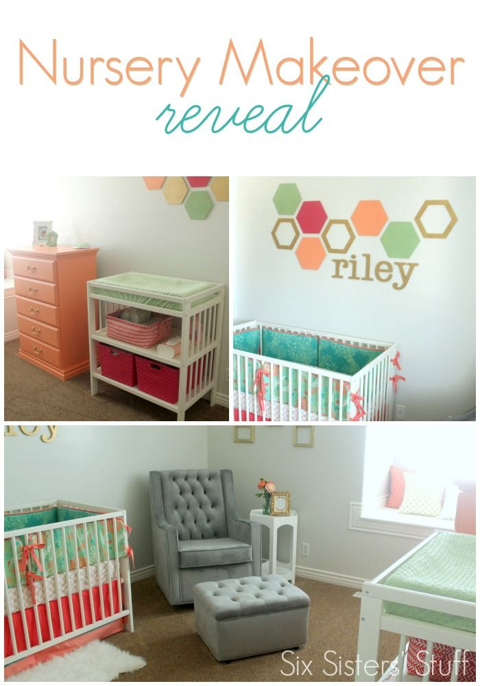 Check out our nursery makeover reveal on SixSistersStuff.com! #sixsistersstuff #nursery #baby