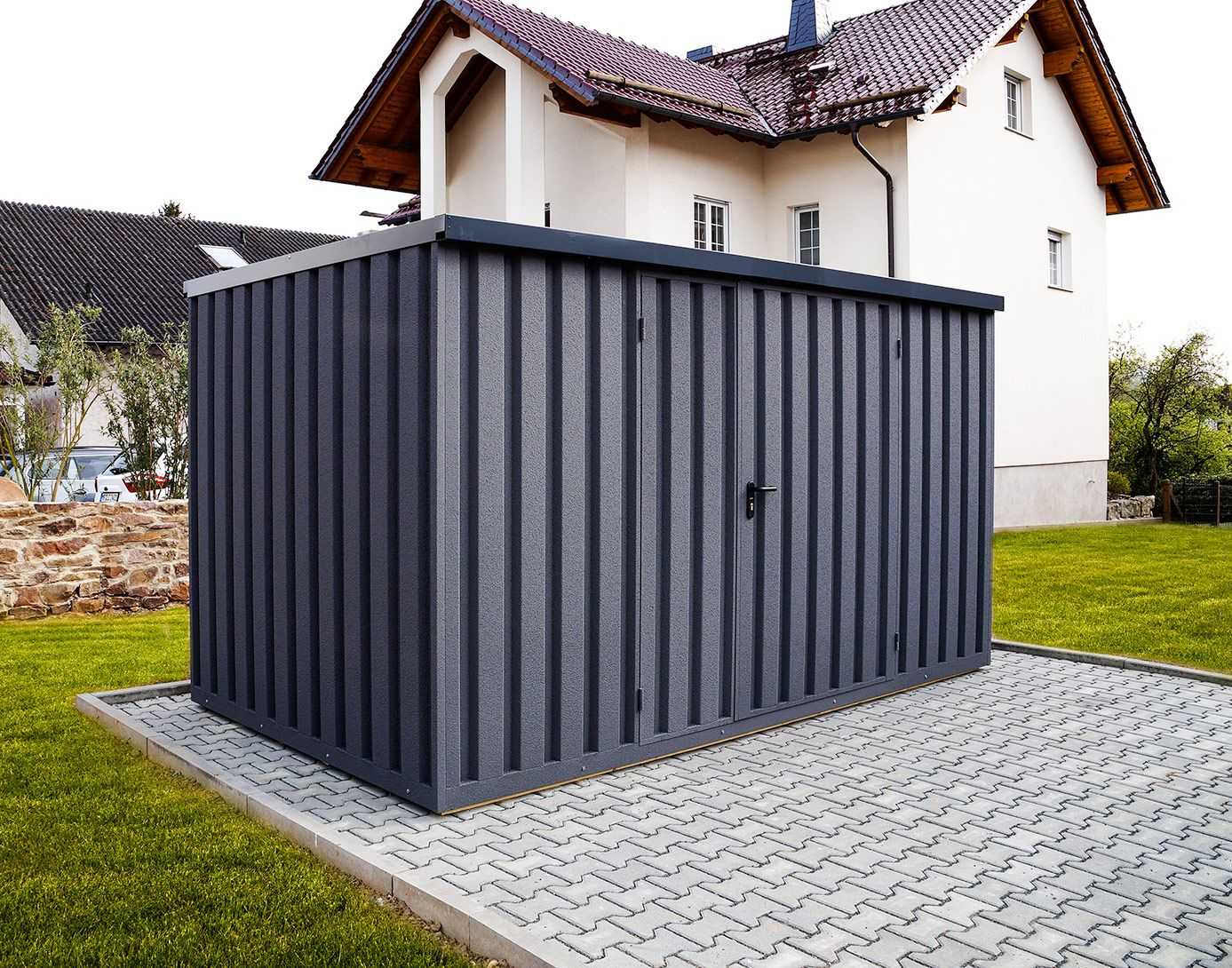Siebau Carport gardenboxx gerätehaus mit dekorputz siebau carport