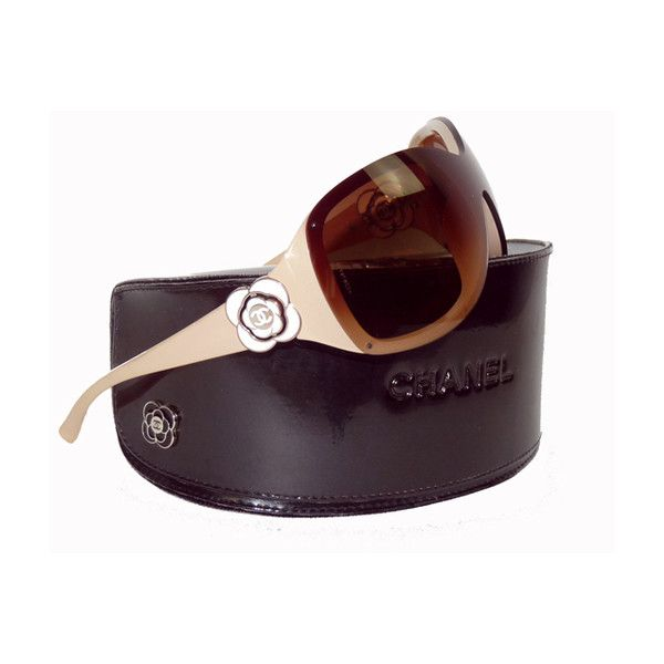 Chanel lunettes de soleil masque camelia   TendanceShopping.com found on  Polyvore 6046a748443a