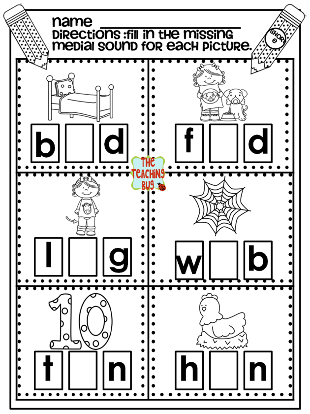 Medial Sounds Phonics Instruction Phonics