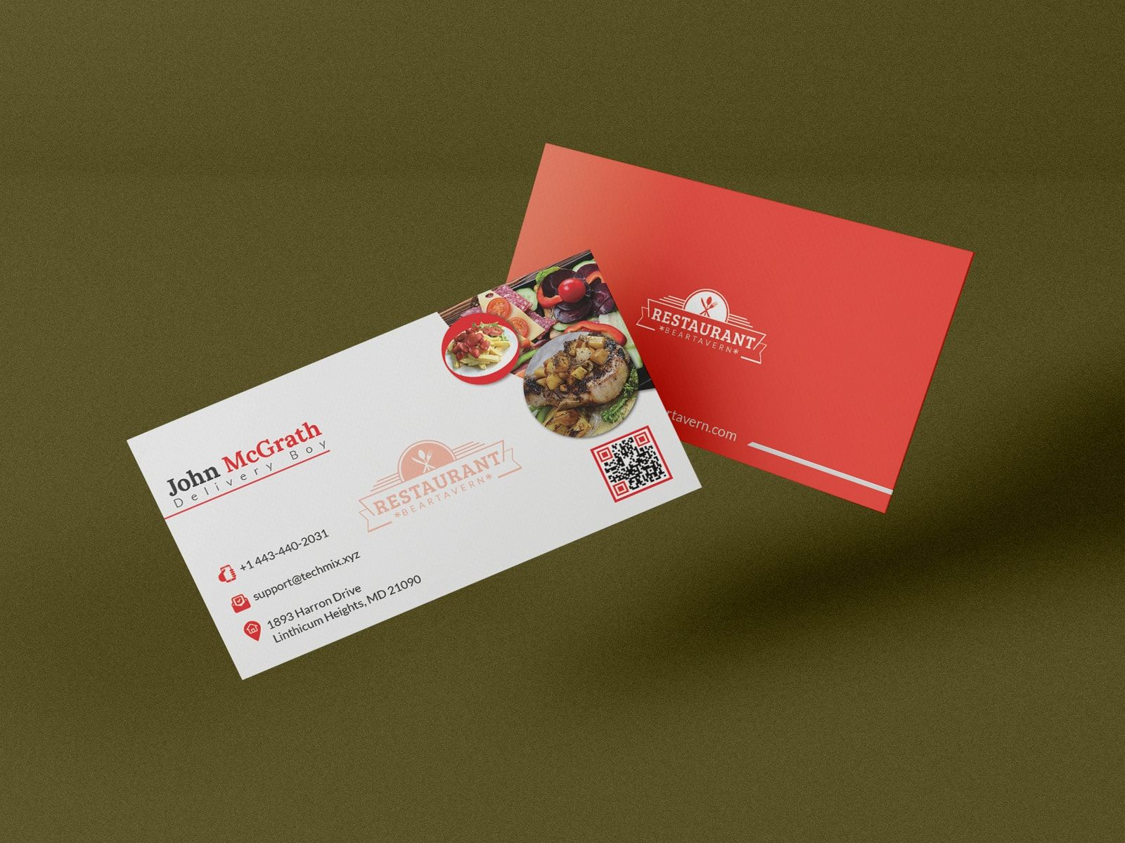 Delivery Boy Business Card Restaurant Business Cards Spa Business Cards Design Spa Business Cards