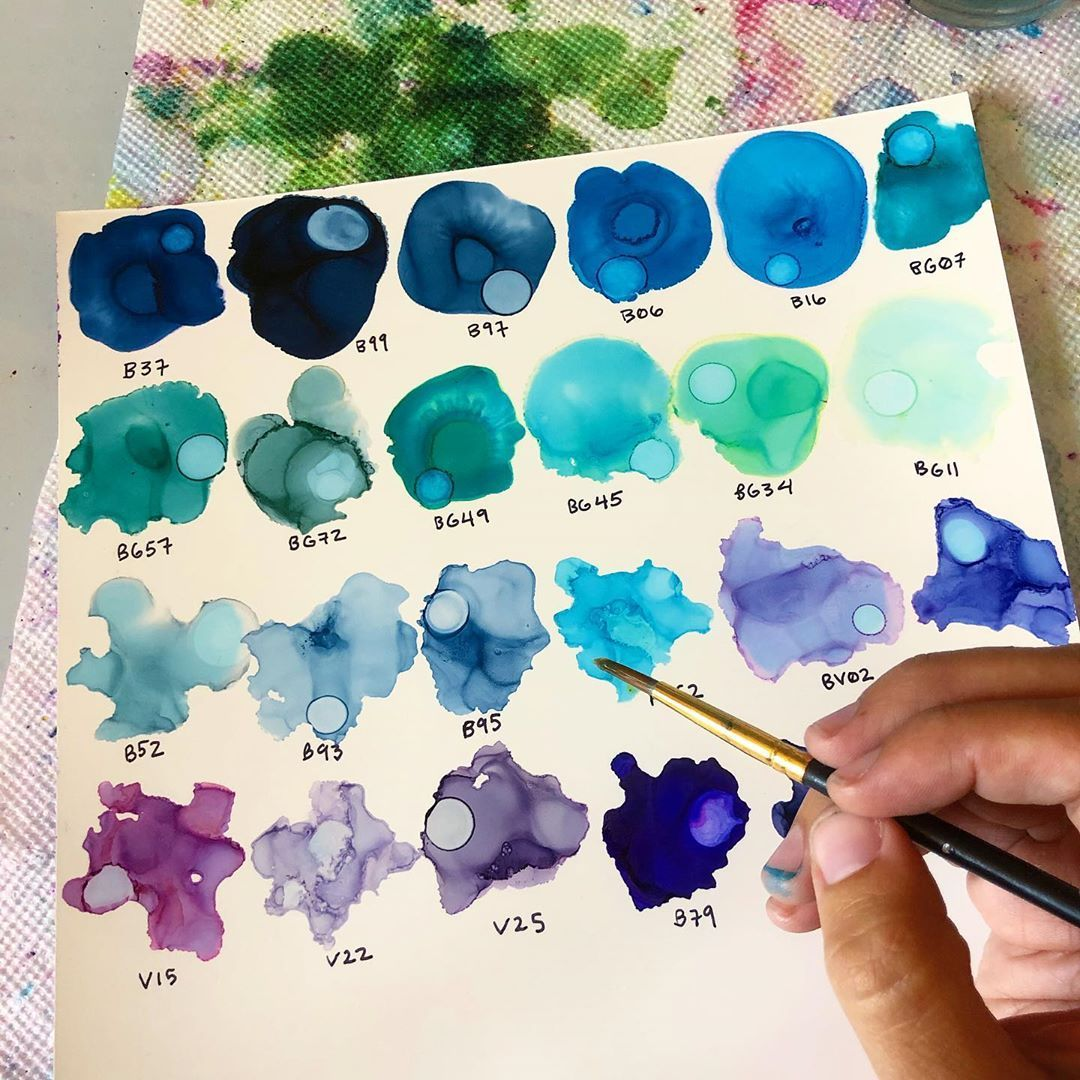 how to make colored ink