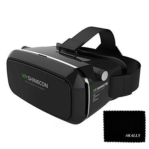 Akally 3d Vr Headset Glasses Virtual Reality Mobile Phone 3d Movies For Iphone 6s 6 Plus Vr Box Virtual Reality Virtual Reality Goggles Virtual Reality Headset