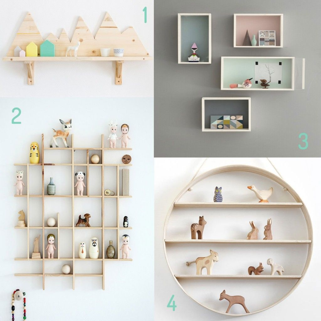 Ranger etag res enfants d co chambre enfants pinterest for Etagere murale chambre fille